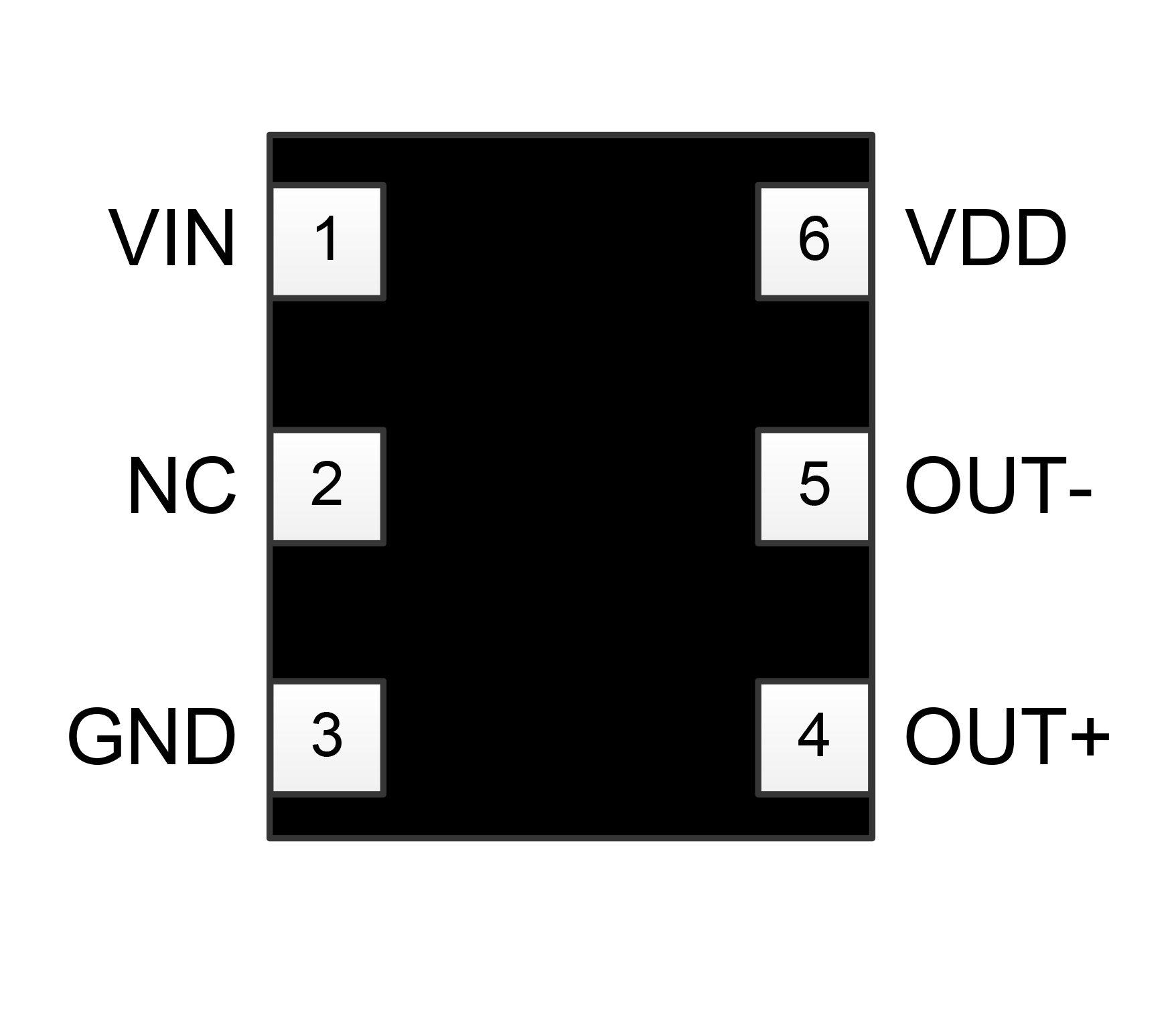 SiT3373 pin assignments