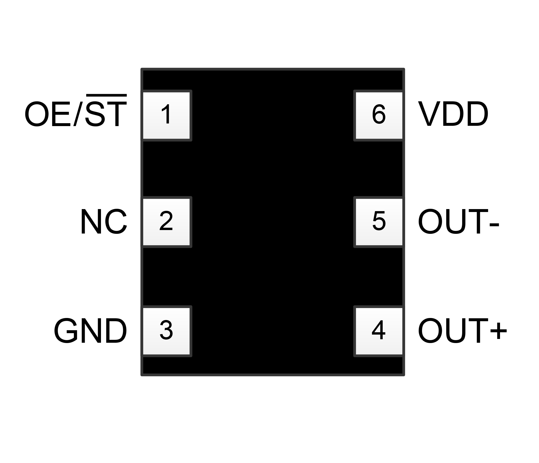 SiT9122 pin assignments